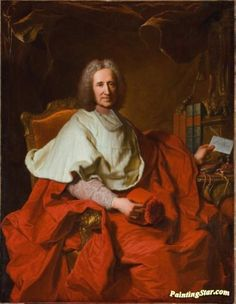 Portrait of Cardinal Guillaume Dubois Artwork by Hyacinthe Rigaud