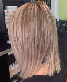 beige blonde balayage lob