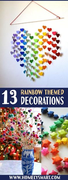 13 Rainbow Themed Decorations For Your Magical Home It's nice for nursery room or simply to create a special corner