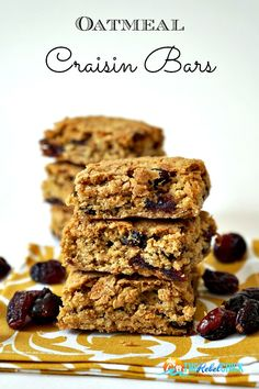 Love cranberries during the holidays? Try this Oatmeal Craisin Bars recipe for a fun treat! They can be made as cookies or bars and the kids will love 'em because the craisins are a little sweet, just like raisins!