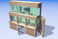 double fish tank stand - Google Search