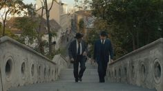 "Jezsuita Stairs, Budapest, from Hunyadi János Way. Seen in ""Maigret Sets a Trap"""