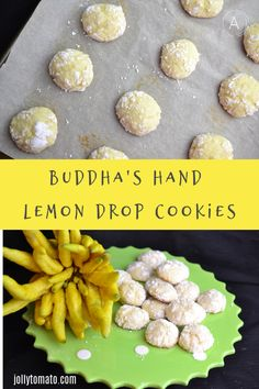 The Buddha's Hand citrus is hauntingly fragrant. These lemon drop crinkle cookies bring out the amazing intensity of this mysterious fruit. Fun Desserts, Delicious Desserts, Dessert Recipes, Yummy Food, Lemon Drop Cookies, Lemon Crinkle Cookies, Unique Recipes, Great Recipes, Favorite Recipes