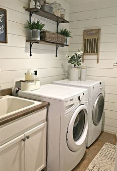rustic laundry room reveal