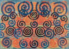 philip taaffe spiral painting - Google Search