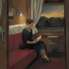 Northeast Train at Dusk (2005). Sally Storch (American, b.1952). Oil on canvas. Pacific Art Foundation.