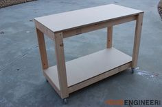 Looking for workbench ideas? Here are 5 DIY workbench plans perfect for a small workshop. Small Workbench, Workbench Plans Diy, Portable Workbench, Building A Workbench, Woodworking Workbench, Woodworking Projects Diy, Diy Wood Projects, Garage Workbench, Industrial Workbench