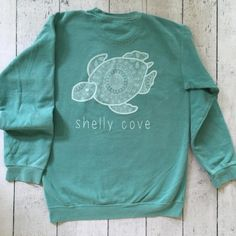 "Seafoam ""Washed Boho"" Crew Neck Sweatshirt"