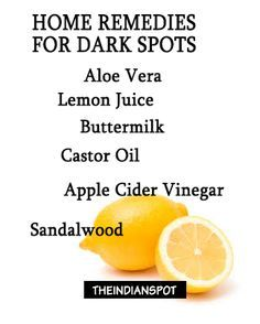 dark spots or sun spots on skin remedies