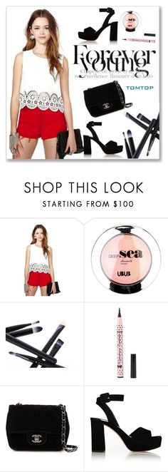 """TOMTOP+ 40"" by amra-mak ❤ liked on Polyvore featuring Chanel, Miu Miu, tomtop and tomtopstyle"