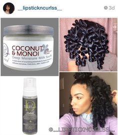 Yall remember this set from last week? I used Curl Enhancing Mousse & Coconut & Monoi Deep Moisture Milk Soufflé! The mousse is definitely a product that paired with many different things always gives a soft long lasting hold! Pelo Natural, Natural Hair Tips, Natural Hair Journey, Natural Curls, Natural Hair Styles, Going Natural, Dreads, Perm Rod Set, Black Hair Care