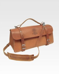 """Klein Tools 18"""" Deluxe Leather Bag. Sure it's grand, but don't you think it's just begging for some tooling?"""