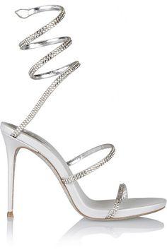 3fbc370c9317 René Caovilla - Crystal-embellished satin sandals