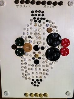 ButtonArtMuseum.com - Unusual 3 Hole Buttons on A Collector's Card