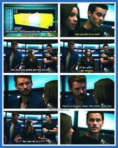 Agents of S.H.I.E.L.D.  The levels of awkward in this scene were Marvel perfect (=