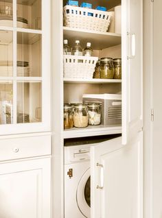 These clever pantry storage ideas will bring order and fascination to a chaotic kitchen. Check it out this kitchen pantry ideas to help organize your kitchen. Corner Kitchen Pantry, Ikea Kitchen Storage, Kitchen Pantry Storage Cabinet, Kitchen Storage Containers, Kitchen Pantry Design, Buy Kitchen, Storage Cabinets, Kitchen Ideas, Kitchen Curtains And Valances