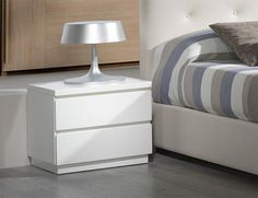 Sandra Modern 2 Drawer Bedside Cabinets In High Gloss White Or Mocha Night Table Pinterest Cabinet And