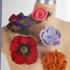 FELT PATTERN Indygo Junction IJ750 Needle felted flowers sewing craft poppy rose #IndygoJunction  #BigBoyTumbleweed