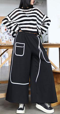 Women's high waist loose straight summer thin section slim black nine point casual pants Plus Size Pants, Plus Size Tops, Cotton Pants, Linen Pants, Casual Tops, Casual Pants, Baggy Tops, New Pant, Elastic Waist Pants