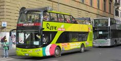 Rome Hop On Hop Off Sightseeing Buses Waiting At The Vatican
