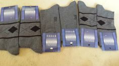 6 Paar Herrensocken Baumwolle Business Herren Socken Anzug Strümpfe Grau