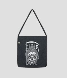Recycled pre-consumer cotton organically grown Recycled post-consumer polyester Woven Twill Art by Felix Rosales Black Tote Bag, Screen Printing, Reusable Tote Bags, Shoulder Bag, Prints, Cotton, Stuff To Buy, Accessories, Totes