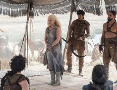 With the premiere just around the corner, we're getting our first official glimpses of the cast in action. Check out these Game of Thrones season 6 photos. Game Of Thrones Saison, Game Of Thrones Series, Game Of Thrones Tv, Khal Drogo, Winter Is Here, Winter Is Coming, Cersei Lannister, Daenerys Targaryen, Khaleesi