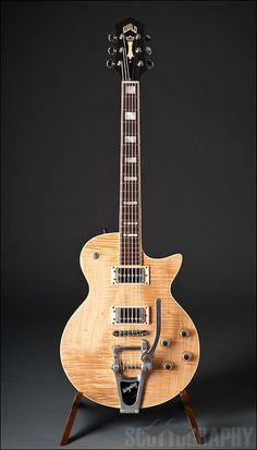 Guild Bluesbird Flamed Maple Top