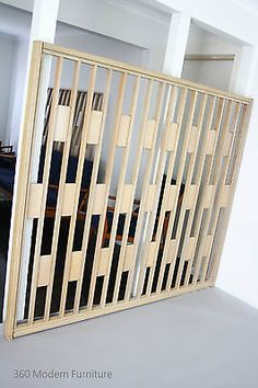 Mid Century Modern Screen Room Divider Partition Retro Vintage Wall Geometric