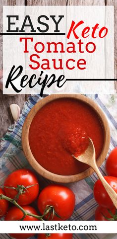 1 In a frying pan add olive oil and saute garlic and onion Once tender add diced or fresh tomatoes and tomato paste and leave to warm for a few minutes 2 Season with salt. Ketogenic Recipes, Diet Recipes, Healthy Recipes, Ketogenic Supplements, Tomato Sauce Recipe, Sauce Recipes, Tomato Paste Sauce, Keto Diet Guide, Keto Sauces