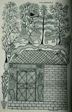Gond House- Gond Art.