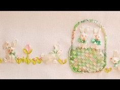 YouTube Daisy, Ribbon Embroidery, Pot Holders, Youtube, Diy Baby, Embroidered Towels, Fabric Ribbon, Hand Embroidery, Crafts To Make