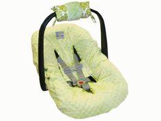 Itzy Ritzy Ritzy Wrap Infant Car Seat Handle Cushion, RW8024 (Avocado Damask)