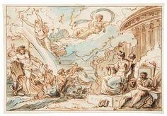 Gaetano Bertolani  (Mantova, 1758 - 1856) [attribuito a] : Le divinità dell'Olimpo.  - Asta STAMPE E DISEGNI DAL XVI AL XX SECOLO - Libreria Antiquaria Gonnelli - Casa d'Aste - Gonnelli Casa d'Aste