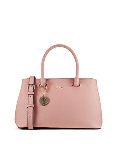 Saffiano Leather Med. Shopper in blush DKNY