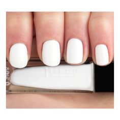 DIY White Manicure ❤ liked on Polyvore