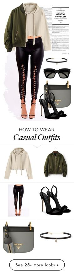 """."" by irenpin on Polyvore featuring Prada, WithChic, Giuseppe Zanotti, Yves Saint Laurent and Carbon & Hyde"
