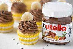 Banana Nutella Cupcakes - My Baking Addiction