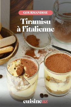 Une recette de dessert traditionnel italien: le tiramisu. #recette#cuisine#dessert#tiramisu #italie #cuisineitalienne Creme Mascarpone, Dessert Original, Pudding, Food, Italian Desserts, Italian Cuisine, Custard Pudding, Essen, Puddings