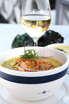 Fish soup served in a Lexington bowl  From our good friend at http://spisdrikklev.blogspot.no