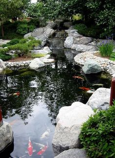 43 Beautiful Backyard Pond Design Ideas  #BeautifulBackyardPondDesignIdeas #Ponds
