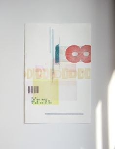 letterpress wallprint