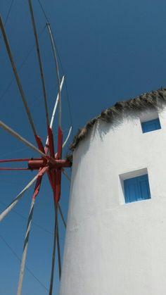 Mill in Mykanos, Greece.