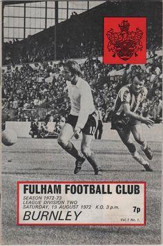 Vintage Football Programme  Fulham v Burnley by DakotabooVintage, £3.99