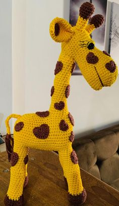 Crochet Elephant Pattern, Crochet Horse, Crochet Teddy Bear Pattern, Crochet Animal Patterns, Crochet Patterns Amigurumi, Amigurumi Doll, Diy Crafts Images, Giraffe Stuffed Animal, Diy Crafts Crochet