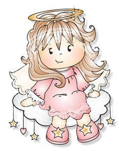 Digital Digi Angel Jodie Stamp by PinkGemDesigns on Etsy