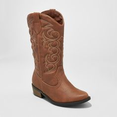 Girls' Meadow Western boot Brown Cat & Jack Brown 13
