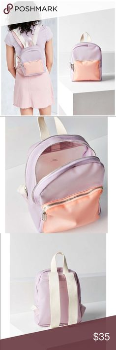 Frosted Mini Backpack Lightweight and tiny, perfect for summer. Lavender and light pink.   ✔️NWT ✔️ Fast response  ✔️Brand is Urban Outfitters ✔️Great quality of material  🔹This Item may or may not include a tag but is brand new Urban Outfitters Bags Backpacks