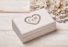 Hochzeit Ring Box, Ringkissen, Ring Box Rustikal