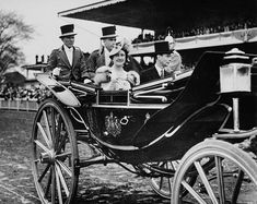 King George VI and Queen Elizabeth arrive at the grandstand, Woodbine Race Course.